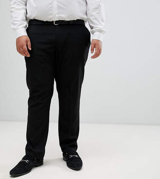 Burton Menswear Big & Tall skinny suit trousers in black