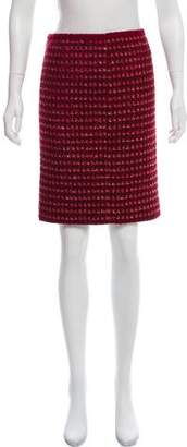 Tory Burch Wool-Blend Knee-Length Skirt