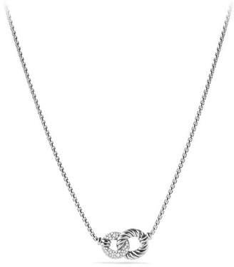 David Yurman Belmont Double Link Necklace with Diamonds