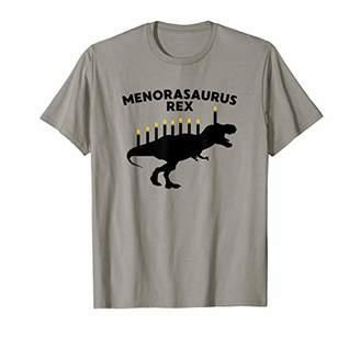 Funny Hanukkah Dinosaur Tyrannosaurus Rex Menorah Trex Shirt