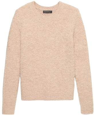 Banana Republic Petite Bouclé Crew-Neck Sweater