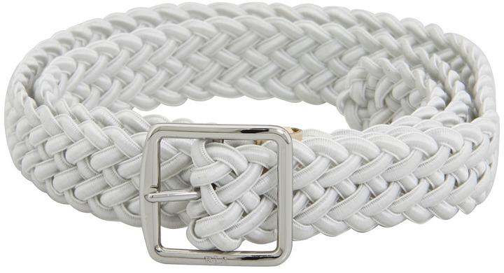 LAUREN Ralph Lauren - 1 inch Stretch Woven Belt (Black) - Apparel