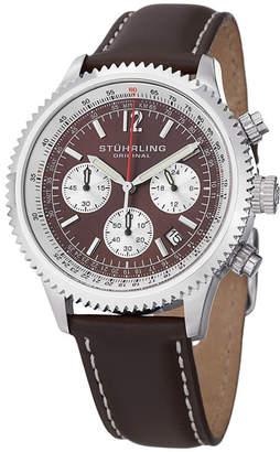 Stuhrling Original Mens Brown Strap Watch-Sp14899
