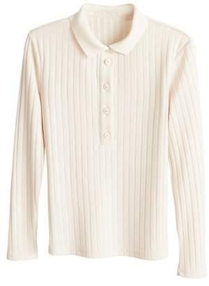 MANGO Ribbed cotton t-shirt