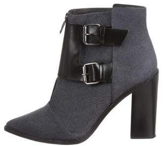 Tibi Suede Pointed-Toe Ankle Boots
