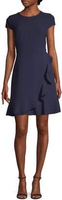 Karl Lagerfeld Paris Ruffled Fit--Flare Dress