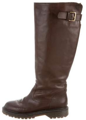Marni Leather Knee-High Boots