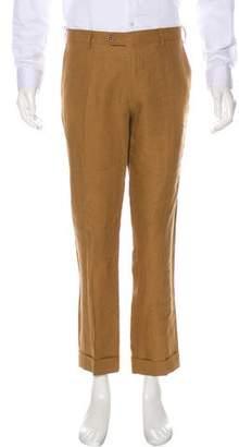 Loro Piana Flat Front Linen Pants