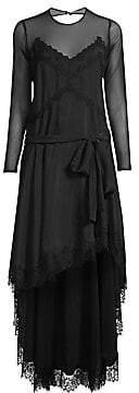 Faith Connexion Women's Silk & Lace High-Low Dress
