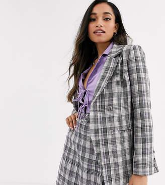 Fashion Union Petite tailored blazer coord in check