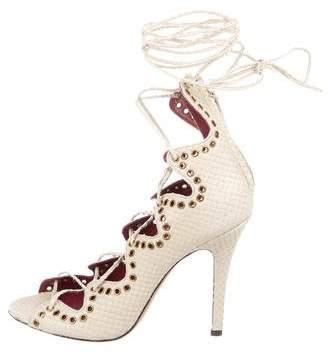 Isabel Marant Leather Lace-Up Sandals