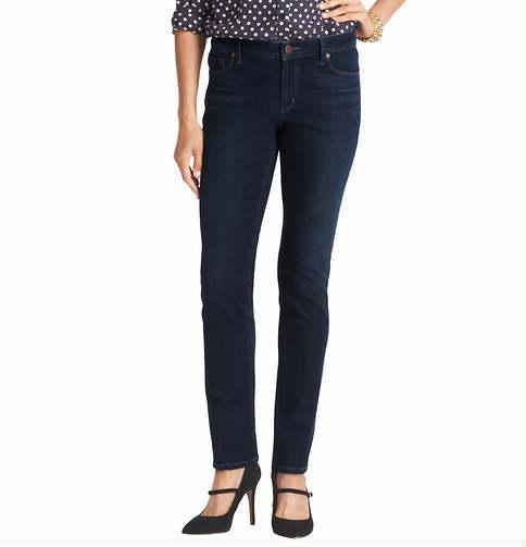 LOFT Tall Supreme Modern Straight Leg Jeans in Debate Dark Blue