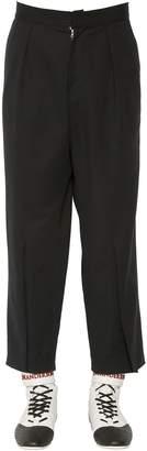 J.W.Anderson Pleated Cotton Canvas Wide Leg Pants
