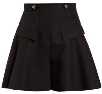 Alexander McQueen Short Wool Culottes - Womens - Black