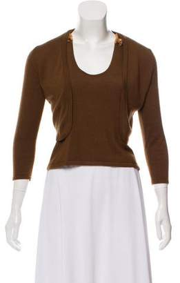 Oscar de la Renta Embellished Silk-Cashmere Cardigan Set