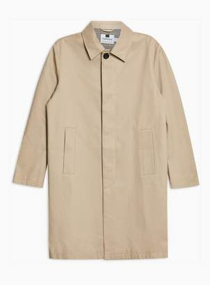 Topman Mens Stone Single Breasted Trench Coat