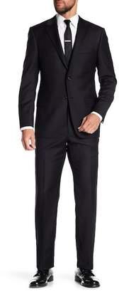 Hickey Freeman Black Wool Suit