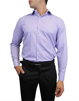Nigel Lincoln Twill Check Slim Fit Shirt With Cuff Trim