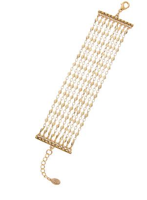 Rachel Reinhardt 14K Plated Multi-Row Bracelet