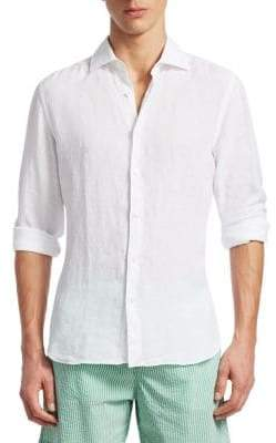 Saks Fifth Avenue COLLECTION Solid Woven Cotton Button-Down Shirt