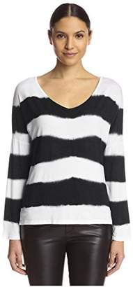 James & Erin Women's Stripe Tie Dye Tee