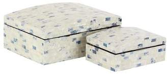 Rosecliff Heights Yorkshire Natural Rectangular 2 Piece Decorative Box Set with Domed Lid
