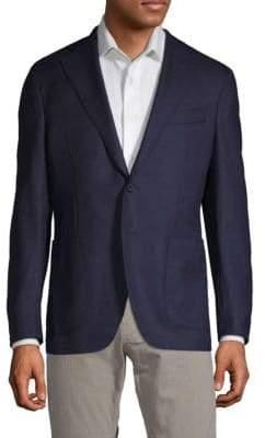 Classic Long-Sleeve Wool Blazer