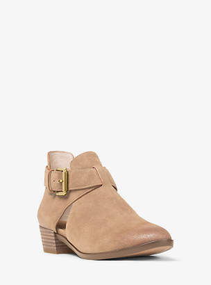 Michael Kors Mercer Cutout Suede Ankle Boot