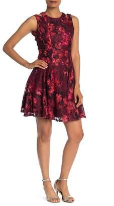 Gabby Skye Sleeveless Floral Knee Length Dress