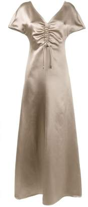 Barbara Casasola gathered chest gown