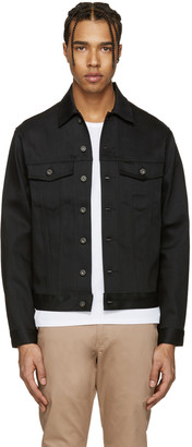 Naked & Famous Denim Black Denim Power Stretch Jacket $175 thestylecure.com