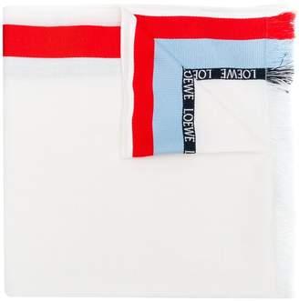 Loewe logo stripe scarf