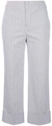 Pt01 striped cropped trousers