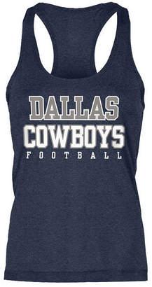 Authentic Nfl Apparel Women's Dallas Cowboys Practice Glitter Tank Top