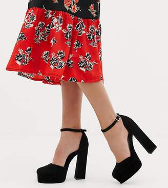 d1874c717a9 Asos Design DESIGN Wide Fit Watford platform heels