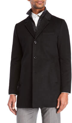 Michael Kors Quilted Bib Slim Fit Coat
