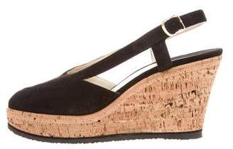 Salvatore Ferragamo Suede Wedge Sandals
