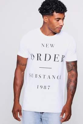 boohoo New Order Substance 1987 T-Shirt
