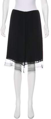 Max Studio Silk Knee-Length Skirt