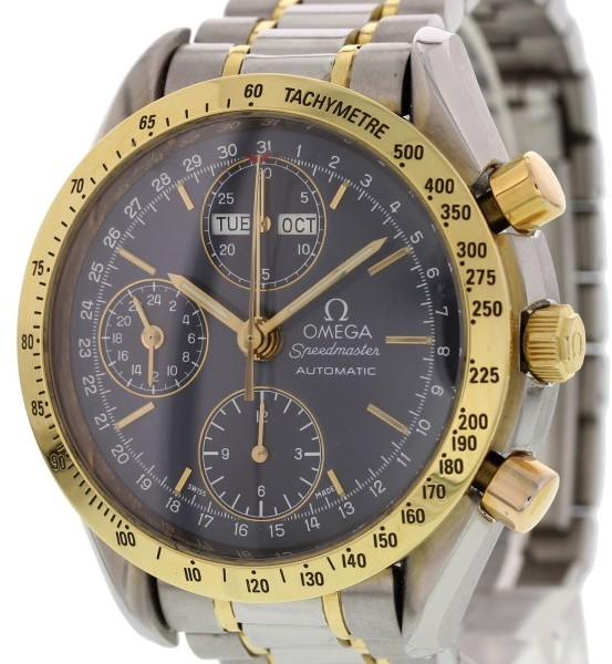 Omega Omega Speedmaster 3321.80.00 Triple Date Chronograph 18K Yellow Gold/Stainless Steel Automatic 39mm Mens Watch