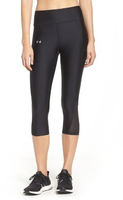 Women's Under Armour 'Fly By' Colorblock Capris $49.99 thestylecure.com
