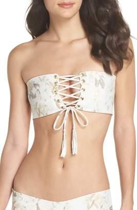 MONTCE Floral Corset Bikini Top