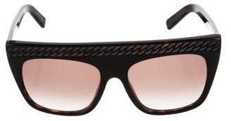Stella McCartney Chain-Link Square Sunglasses