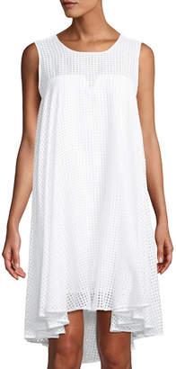 Milly Charlene Sleeveless High-Low Midi Dress