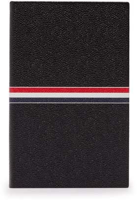 Thom Browne Stripe-print pebbled-leather notebook