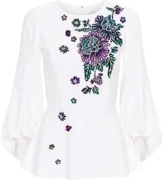 Andrew Gn Embellished Floral Top
