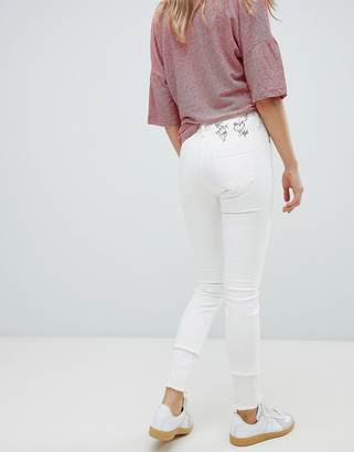 Vivienne Westwood High Rise Skinny Jeans With Embroidery And Raw Hem