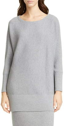 Eileen Fisher Bateau Neck Wool Tunic