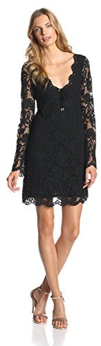 Juicy Couture Women's Scallop Lace Long Sleeve Dress