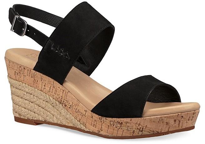 UGGUGG® Elena Leather Wedge Sandals